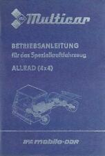 Bedienung Multicar 25 Allrad
