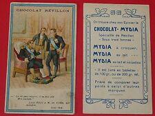 CHROMO 1920 CHOCOLAT REVILLON MYDIA A CROQUER LOUIS XVIII 1824 M DE VILLELE