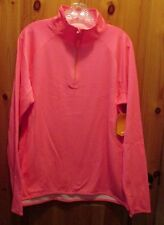 NEW AVIA XL 1/4 ZIP SOFT ACTIVE PULLOVER SHIRT JACKET Neon Melon Heather NWT