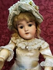 Antique 1885 German Bisque Head Doll Early Handwerck 119 Marked Body Org Wig 21""