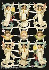 German Victorian Style Embossed Scrap Die Cut - Christmas Easter Angels EF7332