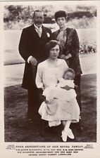 KING GEORGE V, FOUR GENERATIONS OF OUR ROYAL FAMILY : REAL PHOTO POSTCARD (1923)
