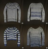 Abercrombie & Fitch Women Sweater Sweatshirt Cropped/Tunic Striped Easy Fit  NWT