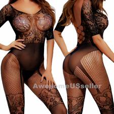 Women Sleepwear Bodysuit Stocking Lingerie Babydoll Bodystocking Chemise XS-5XL