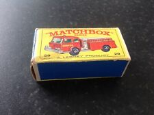 Matchbox Lesney , no29 fire pumper original box