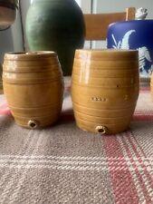 Pair Of Miniature Stoneware Barrels