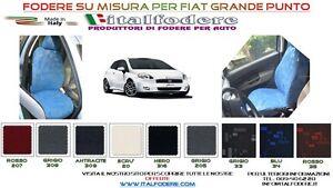 Coprisedili Fodera Set Completo su Misura per Fiat Grande Punto in Cotone