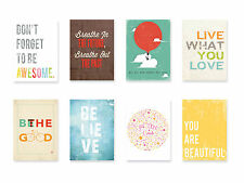 Nursery Decor, Wall Art Decor, Typography, Inspire Mini Collection Wall Cards