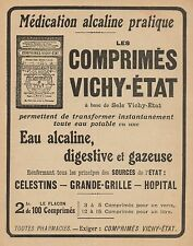 Y9407 Comprimès Vichy-Etat - Pubblicità d'epoca - 1916 Old advertising