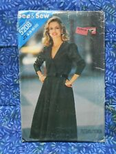 Vintage sewing pattern. BUTTERICK 5208. DRESS. Sizes 8 - 10 - 12 UNUSED