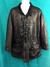 Lakeland Black Leather Lined Adjustable Drawstring Waist Coat Size 46 XXL