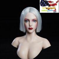 "1/6 Female Head Sculpt SDH019 A For TBLeague Phicen Pale 12"" figure Poptoy ❶USA❶"