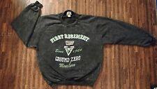 Ground Zero -First Regiment Vintage Sweatshirt Iron Bird Unit -Size Large Gray
