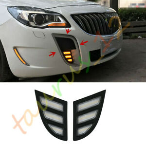 Front Daytime Running Light (White+Yellow+Blue) For Opel Insignia OPC 2010-2016