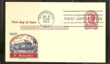 US SC # UX43 Lincoln Postal Card FDC. fluegel Cachet