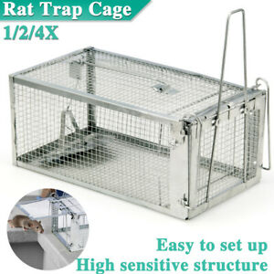Mouse Mice Rat Trap Cage Up to 4X Live Catch Mesh Wire Bait Humane Control Box