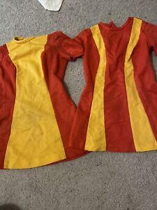 1970s Burger King Fast Food Restaurant Uniform Top Vintage Classic Yellow Org