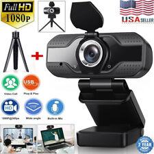 Full 1080P HD USB Webcam for PC Desktop & Laptop Web Camera w Microphone/FHD US