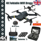 1080p Drone X Pro WIFI FPV 4K HD Camera Foldable Selfie RC Quadcopter 3Battery.