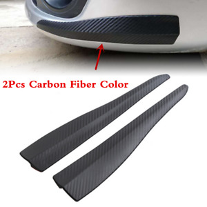 2PCS Carbon Fiber Car Bumper Door Edge Anti Scratch Crash Strip Trim Accessories