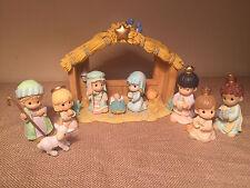 2001 Precious Moments 10 Pc Nativity Figurine Set; 692027, Complete in Box