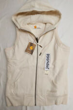 Carhartt Womens Stockbridge Sherpa Lined Hooded Vest sz XSMALL W White[BX42-702)