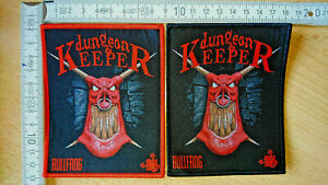 RARE WOVEN DUNGEON KEEPER PATCH BULLFROG DUNGEONS OVERLORD WAR FOR MOLYNEUX