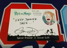 Rick and Morty Season 2 Spencer Grammer as Summer Beth Autograph 025/300 Made