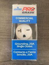 Leviton 5821-Wsp 20A 250V 2-Pole Nylon Single White Outlet 4.06 H x 1.38 W in.