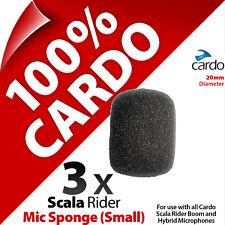 3 x Cardo Scala Rider Mic Sponge Small Boom/Hybrid Microphone Qz Q1 G9x PackTalk
