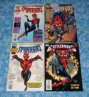 Marvel Spider-Girl # 0 1/2 1 and Battlebooks Premier Issue 4 Comic Book Set Lot