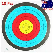 10x Outdoor Archery Target Paper Face for Arrow Bow Shooting Hunting 60x60cm AU