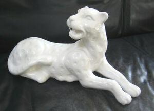 ** Dekofigur * Leopard, weiß, Keramik, Formano, ca. 45 cm lang **