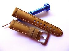 22mm Asso Band - Leather Watch Strap - Panerai Style