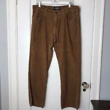 Men's Lucky Brand Brown Corduroy Straight Pants Size 36x32