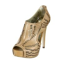 Carlos Santana Joplin Women's Size 8.5 Camel Peep Toe Hi Heels Sandals Pumps NEW