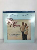 THE WAY WE WERE Laserdisc Deluxe Widescreen ROBERT REDFORD Barbara Streisand