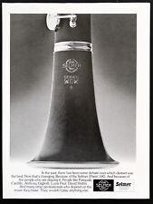 1977 Vintage Print Ad 70's SELMER 10G CLARINET Music Instrument B&W Image