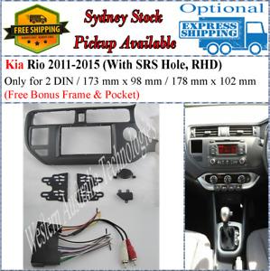 Harness + Fascia facia Fits Kia Rio 2011-2015  (SRS Hole) Double Two 2 DIN*