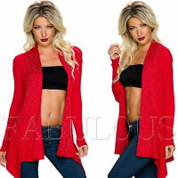 New Sexy Women's Cardigan Jumper Jacket Knitwear Outerwear Size 6 8 10 XS S M