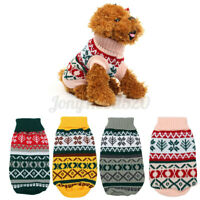 Christmas Snowflake Pet Dog Puppy Cat Sweater Coat Winter Warm Clothes Apparel