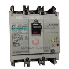 New In Box Fuji Ew100eag 3p 75a Residual Current Circuit Breaker