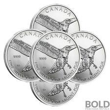 2015 Silver 1 oz Canada Birds of Prey Red-Tailed Hawk (5 Coins)