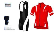 Set maglia e pantalone da ciclismo bianchi Taglia XL