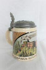 """Villeroy & Boch Mettlach Vintage Beer Stein """"Alt Heidelberg Du Feire"""""""