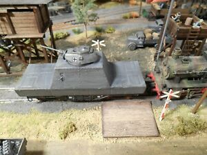 HO Roco Minitanks German Armored Railway Car Custom Detailed Weathered #A1305