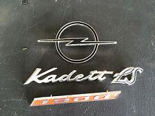 Opel Kadett 1900  Metal Emblem Ornament Vintage