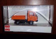 Ho Busch Mulitcar with Flat Bed, dump body 42201 Orange Nip