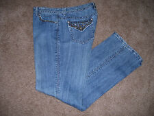 Women Baccini Denim Jeans Straight Leg Studded Details Stretch SiZe 12 x 32 VGC!
