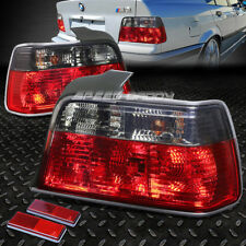 FOR 1992-1998 BMW E36 3-SERIES RED SMOKED TAIL LIGHT REAR BRAKE REVERSE LAMP